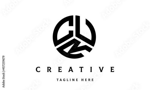 Fotografia CUR creative circle three letter logo