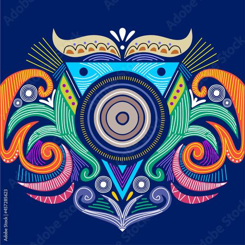 Fotografiet Abstract circular tribal ornament