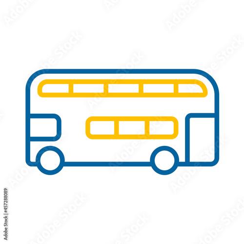 Double decker bus flat vector icon Fototapeta