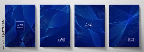 Fotografía Contemporary technology cover design set