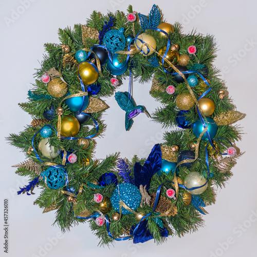 Fototapeta premium isolated on white background christmas wreath
