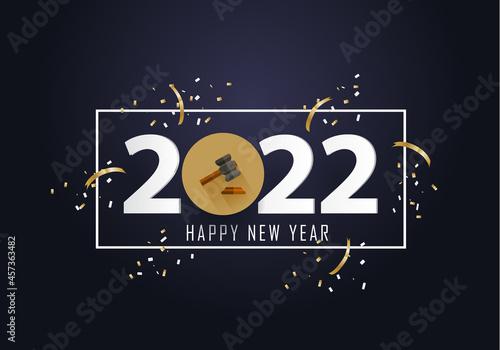 Fotografie, Obraz happy new year 2022