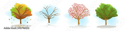 illustration of a tree Fototapet
