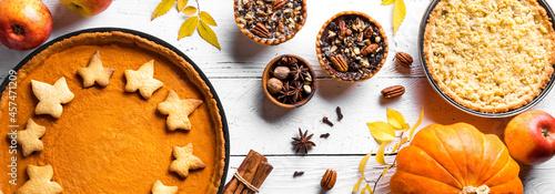 Fotografia, Obraz Thanksgiving autumn pies