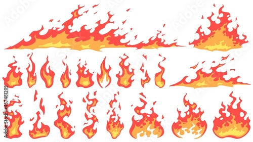 Fotografiet Cartoon fire flames