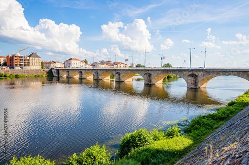 Obraz na płótnie Les quais de la Loire à Roanne