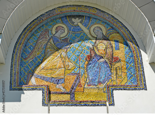 Obraz na plátně Mosaic icon Annunciation of the Blessed Virgin Mary