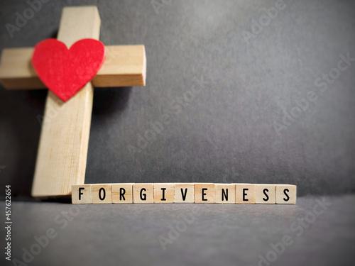 Obraz na plátně Freedom Concept - Forgiveness text background. Stock photo.
