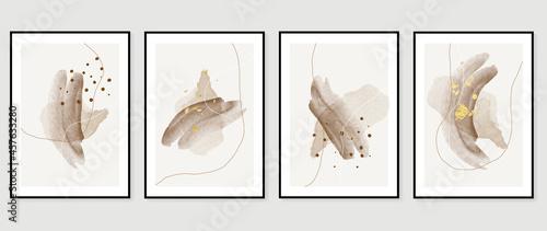 Obraz na plátně Abstract art background vector