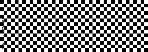 Fotografie, Obraz black and white squares chessboard pattern background