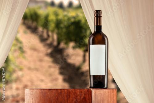 Fotografia bottiglia di vino