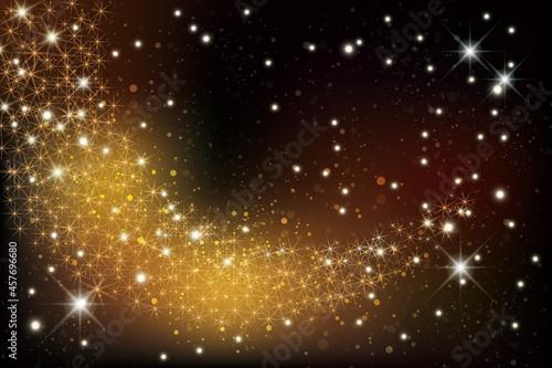 Canvas Print 輝く星雲の銀河イメージ背景