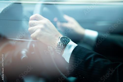 車・時計・時間・男性・ビジネスマン・運転 Fototapet