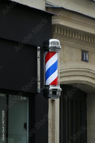 Fotografia, Obraz Enseigne de Barbier