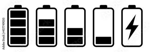 Canvas Print Battery icon set
