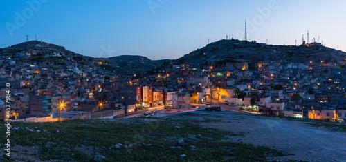 Fotografia トルコ シャンルウルファの丘から見える旧市街の夜景