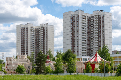 Fotografiet 16 Zelenograd microdistrict in Moscow, Russia
