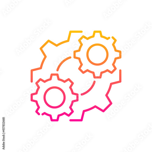 Fototapeta Consolidation vector gradient icon style illustration