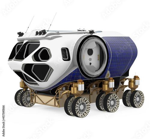 Obraz na plátně Space Exploration Vehicle Isolated