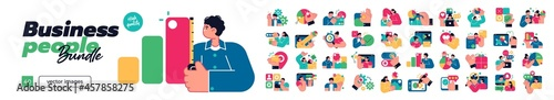 Fotografering Business Concept illustrations