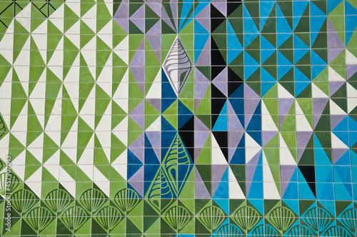 Fotografia, Obraz Modernist tiles in Av. Infante Santo building, Lisbon