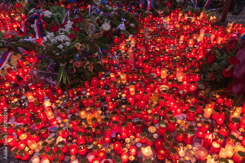 Fotografie, Obraz Gedenktag des Kampfes um Freiheit und Demokratie, Feiertage Tschechien, Samtene