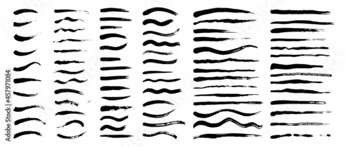 Fotografia Vector set of grunge artistic brush strokes, brushes