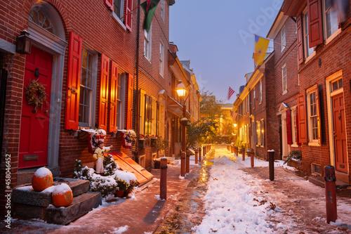 Foto Philadelphia, Pennsylvania, USA at Elfreth's Alley