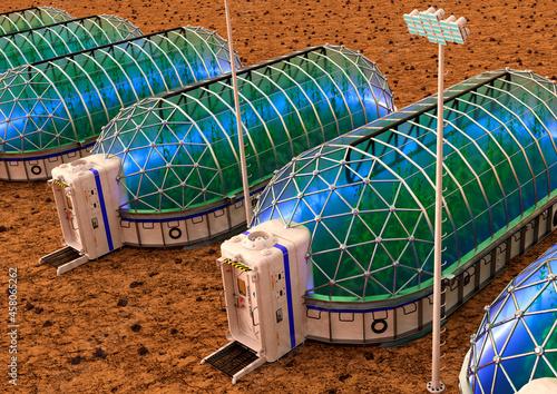 Fototapeta 3D Rendering Mars Colony