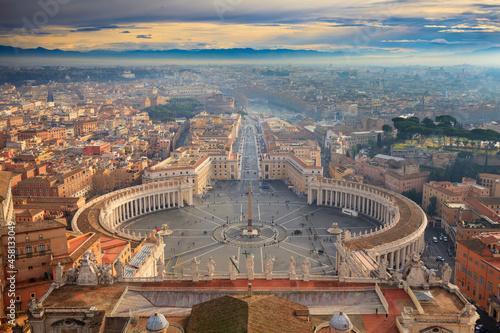 Photographie Bazylika św. Piotra widok z kopuły