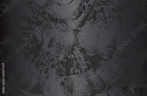Tablou Canvas Luxury black metal gradient background with distressed closeup seashell armor te