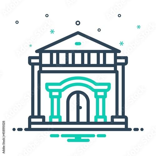 Obraz na plátně Mix icon for palace