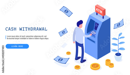 Fotografering Financial, withdrawal cash