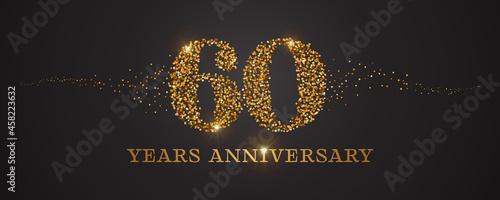 Fotografering 60 years anniversary vector icon, logo