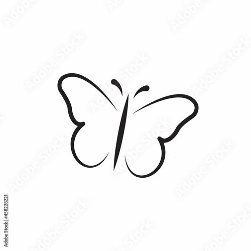 Fotografie, Obraz Butterfly outline icon