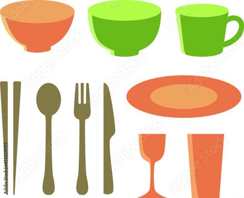 Obraz na plátne 食器