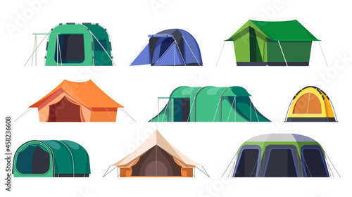 Canvas Camp tents and campsite shelters, camping travel