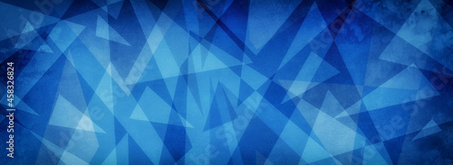 Abstract blue background. Blue and white geometric background in creative modern art pattern with texture, business card background painting with textured shapes and triangles in blue design