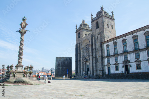 Beautiful view of the famous Porto Cathedral in Porto, Portugal