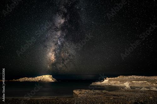 Milchstraße über dem Meer