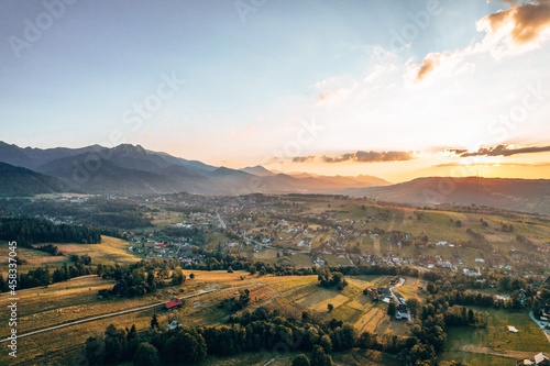 Sunset in Tatra moutains