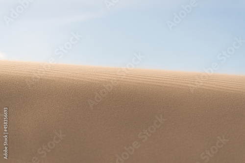 Fotografia Fine texture and lines of sandy dunes in a desert.