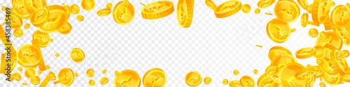 Valokuva Indian rupee coins falling
