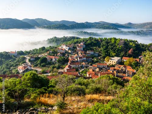 Obraz na plátně The Village Of Lastovo On Lastovo Island, Croatia