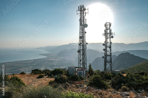 Fotografering Electricity Pylon On Land Against Sky