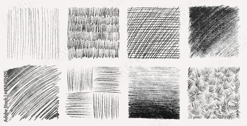 Canvastavla Sketch pencil texture set