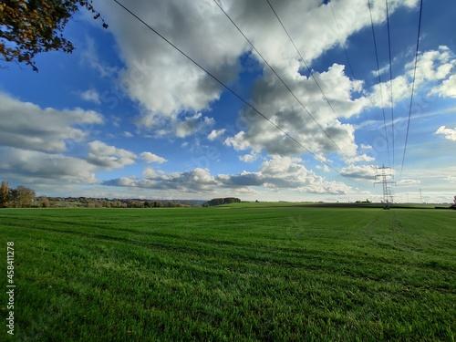 Fotografie, Obraz Scenic View Of Field Against Sky