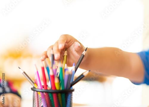 Obraz na plátně Coloring Pencils