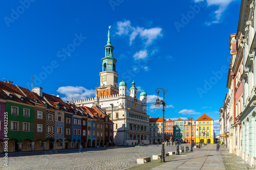 Image of Poznan city historical streets and old market square in Poland Fotobehang
