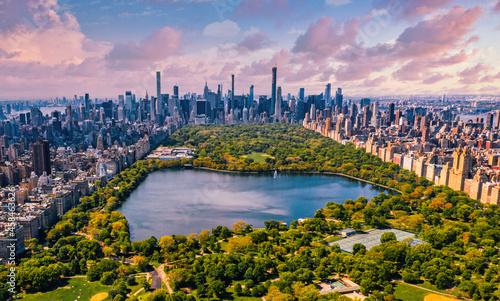 Foto Central Park Aerial View In Manhattan, New York.